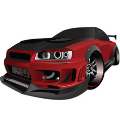 skyline car vector image