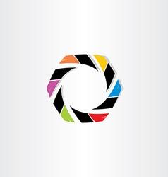 abstract hexagon business icon vector image