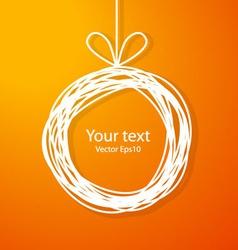Christmas sketch frame on orange background vector image vector image