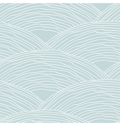 Seamless pattern with abstract doodle wavy scale vector image