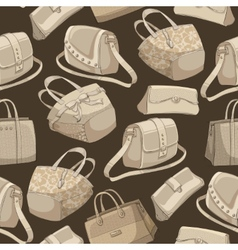 Seamless womans stylish bags retro pattern vector image