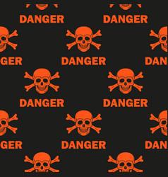 Black background warns of mortal danger vector