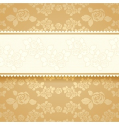 Golden roses with background Square vector image vector image