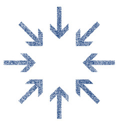 Pressure arrows fabric textured icon vector