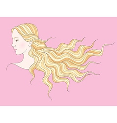 beauty girl hair vector image vector image