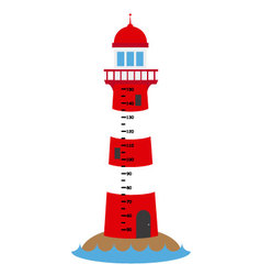 Children wall meter lighthouse vector image