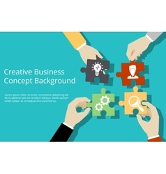 Creative business concept background vector image vector image
