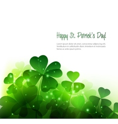 Happy Saint Patricks Day Background vector image vector image