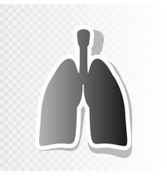 human organs lungs sign new year blackish vector image vector image
