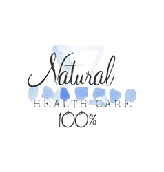 Natural Health Care Beauty Promo Sign vector image vector image