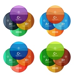 Set of round option diagram template for your data vector image vector image