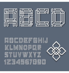 White alphabet letters and numbers vector image vector image
