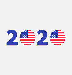 2020 blue red text vote president election day vector image