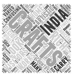 A Look at India Word Cloud Concept vector