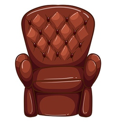A simple coloured drawing of a brown furniture vector