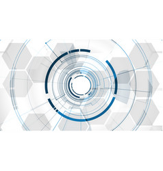abstract technological middle tunnel template vector image