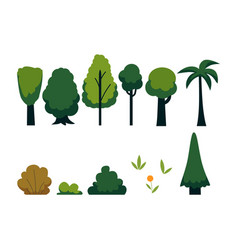 abstract tree with green foliage icon vector image