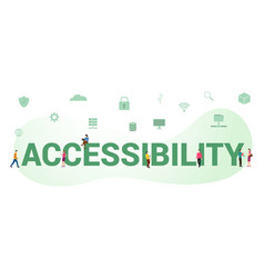 Accessibility data document concept with big word vector