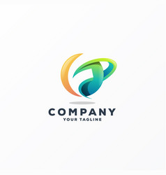 awesome abstract gradient logo design vector image