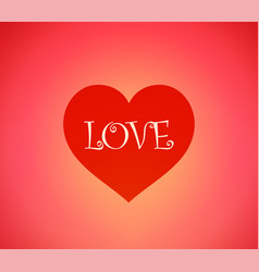 background with heart and caption love vector image