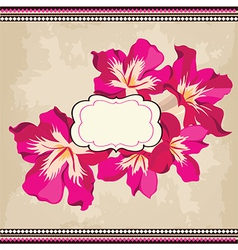 Beautiful floral patternSpring background vector