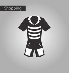 Black and white style icon shorts and a t-shirt vector