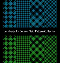 blue and green lumberjack collection vector image