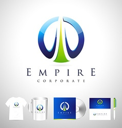 Blue business corporate logo design vector