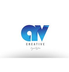 Blue gradient av a v alphabet letter logo vector
