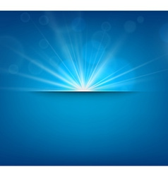 Blurry blue background with lens flare vector