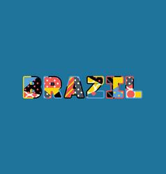 brazil concept word art vector image