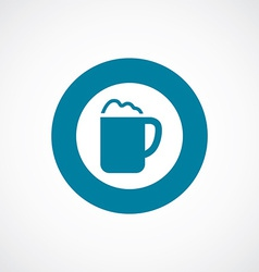 cappuccino icon bold blue circle border vector image