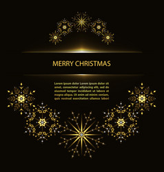 christmas poster with snowflakes vector image