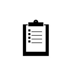 Clip board work black icon vector