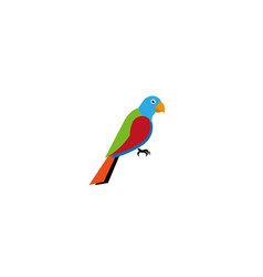 Creative beautiful parrot logo vector