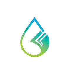 Droplet data paper logo vector