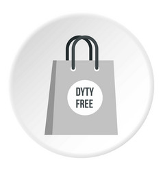 Duty free bag icon circle vector