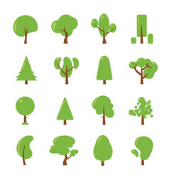 ecology set flat pictures of green vector image