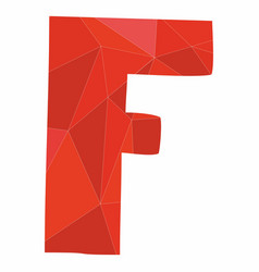 F red alphabet letter isolated on white background vector