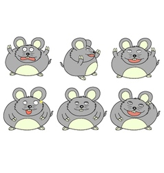 fat mouse cartoon vector image