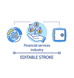 Financial services industry concept icon finance vector