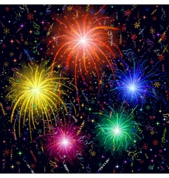 Firework background vector