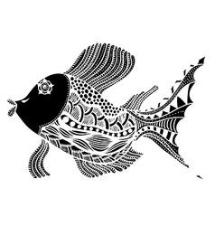 fish in zentangle vector image