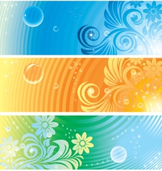 floral design background vector image