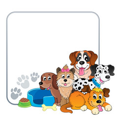 Frame with dog theme 2 vector