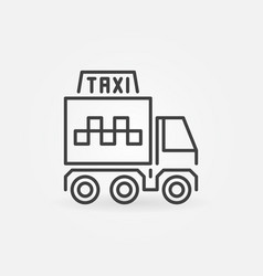 freight taxi truck concept outline icon vector image