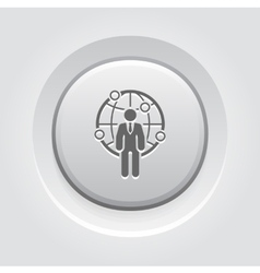 Global Business Icon vector