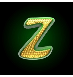 golden and green letter z vector image