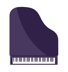 Grand piano musical instrument vector