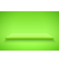 Green Presentation platform vector